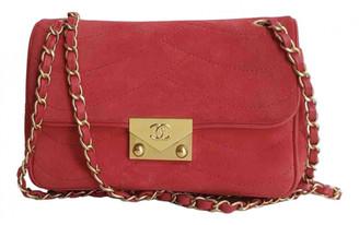 Chanel Red Suede Handbags