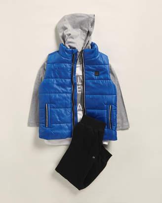 Calvin Klein Jeans Toddler Boys) 3-Piece Puffer Vest, Raglan Hoodie & Jogger Sweatpants Set