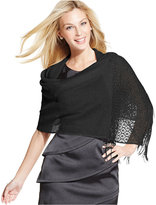 Style&Co. Woven Metallic Crochet Wrap