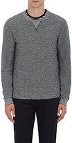 Barneys New York Men's Cotton-Blend French Terry Sweatshirt-GREY