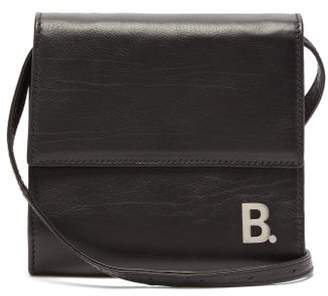 Balenciaga B-logo Leather Cross-body Bag - Mens - Black