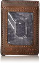 Levi's Men's Front Pocket Wallet Double Stitch Detail and Embossed Logo
