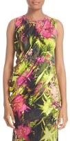 Fuzzi Women's Fern Print Draped Jersey Top