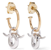 Charlotte Chesnais Horn Gold-dipped And Silver Earrings - one size