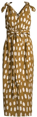 Mara Hoffman Calypso Dotted Tie-Waist Cover-Up