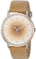 Fossil Women's ES4199 Vintage Muse Three-Hand Tan Leather Watch