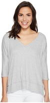 Heather Cold Shoulder V-Neck Top Women's Clothing