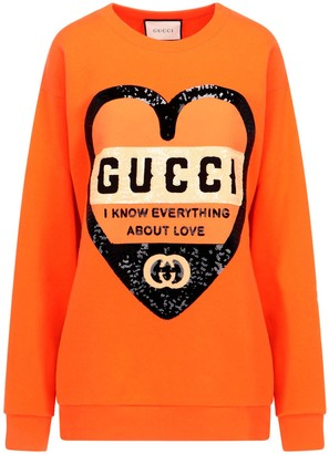 Gucci Heart Print Sweatshirt