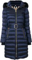 Burberry hooded puffer coat