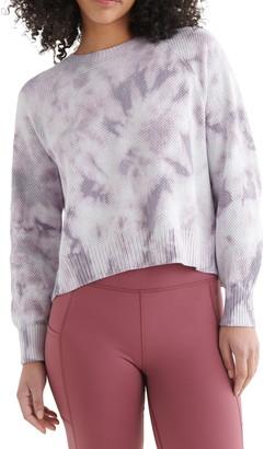 Lucky Brand Tie Dye Open Back Sweater