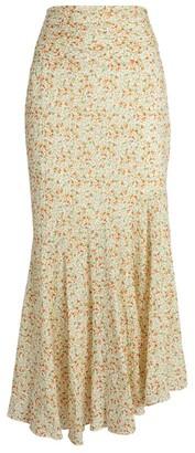 Peony Swimwear Floral Asymmetric Maxi Skirt