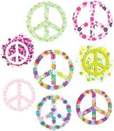 Bed Bath & Beyond Flowered Peace Signs Vinyl Wall Decal Set