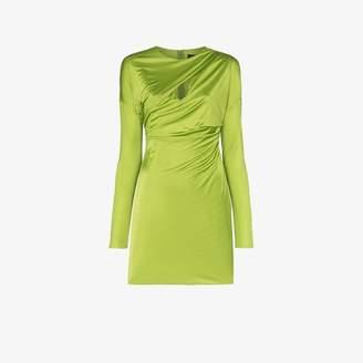 Versace ruched slashed mini dress