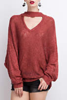 Easel Choker Sweater Tunic