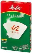 "Melitta filter paper allo Magic Natural White 1 x 2 ""10 Pack Set"" (japan import)"