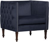 The Well Appointed House Nail Button Arm Chair in Mystere Eclipse