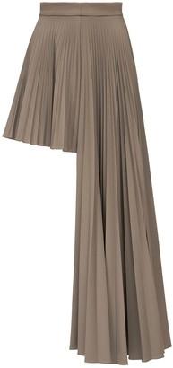 Rokh Asymmetric Pleated Mini Skirt