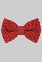 Moss Bros Rust Knitted Bow Tie