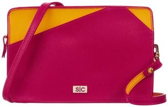 Stacy Chan London Charlie Mini Bag In Fuchsia Saffiano Leather