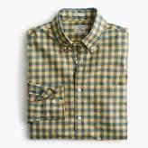 J.Crew Slim Secret Wash shirt in yellow-and-blue gingham