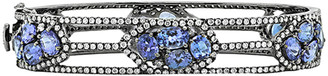 Diana M Fine Jewelry 18K 13.70 Ct. Tw. Diamond & Tanzanite Bracelet