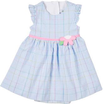 Florence Eiseman Girl's Plaid Floral Sleeveless Ruffle Dress, Size 2-4T