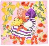 Gucci Silk Floral Printed Scarf