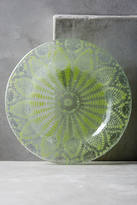 Kicking Glass By Sheree Blum Frosted Doily Dessert Plate