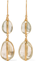 Pippa Small 18-karat Gold Aquamarine Earrings - one size