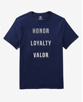 Express Honor Loyalty Valor Textured Graphic Tee