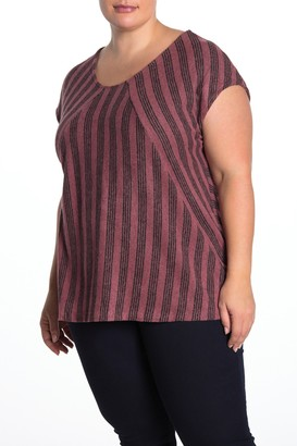 Bobeau Angelica Stripe Shirt (Plus Size)