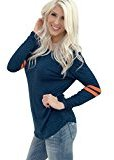 TOOPOOT Women Long Sleeve Pullover Shirt Tops T Shirt (M, B)