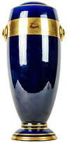 One Kings Lane Vintage Cobalt/Gold French Vase