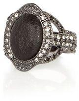 River Island Womens Dark silver tone diamanté ring