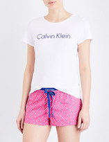 Calvin Klein Logo-print stretch-cotton pyjama set