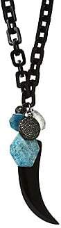 Nest Women's Horn Link Teal Apatite Charm Necklace