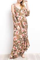 Easel Boho Drawstring Dress