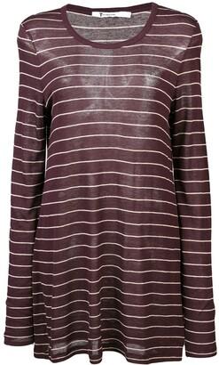 alexanderwang.t Striped Longline Jersey Top