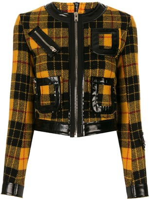 Yang Li Check Pattern Fitted Jacket