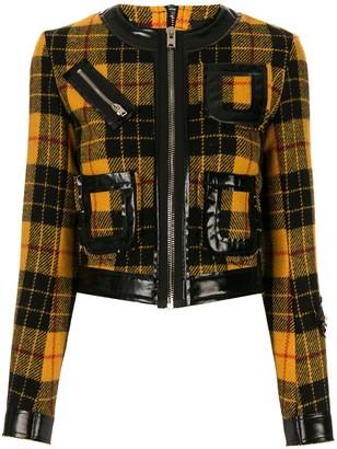 Yang Li check pattern fitted jacket