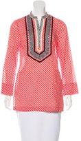 Tory Burch Embroidered Printed Tunic