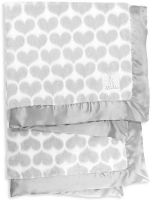 Little Giraffe Luxe Heart Faux-Fur Blanket