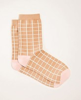 Ann Taylor Windowpane Trouser Socks