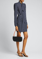 Michael Kors Stars Bow-Neck Long-Sleeve Sheath Dress