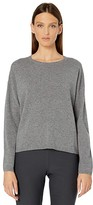 Eileen Fisher Italian Cashmere Crew Neck Top (Ash) Women's Sweater