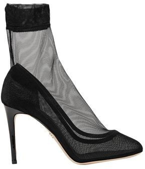Dolce & Gabbana Coco Leather-trimmed Stretch-tulle Sock Boots