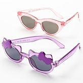 Jumping beans 2-pk. glitter kitty cat's-eye sunglasses - girls