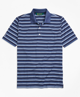 Brooks Brothers St. Andrews Links Pique Stripe Golf Polo Shirt