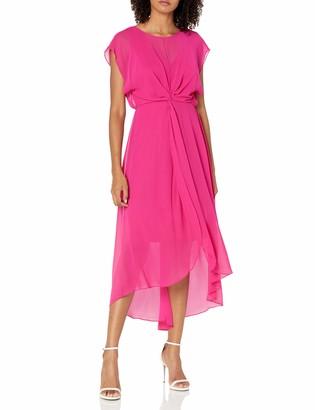 Adrianna Papell Women's Chiffon Overlay Twist Dress