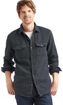 Gap Textured check shirt jacket